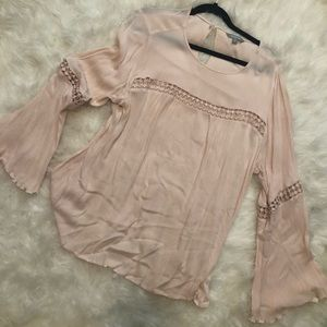 Light pink Flared arm boho hippie long sleeve